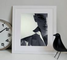 Audrey Hepburn The Face - Decorative Arts, Prints & Posters,Wall Art Print, Poster Any Size - Black and White Poster